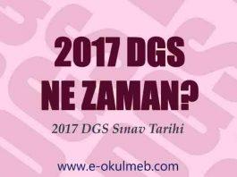 2017 dgs ne zaman sınav tarihi