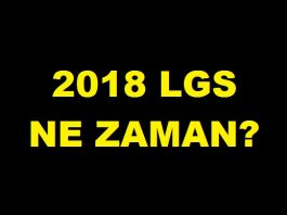 2018 lgs ne zaman