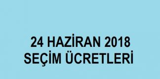 24 haziran 2018 seçim sandık görevlisi ücretleri