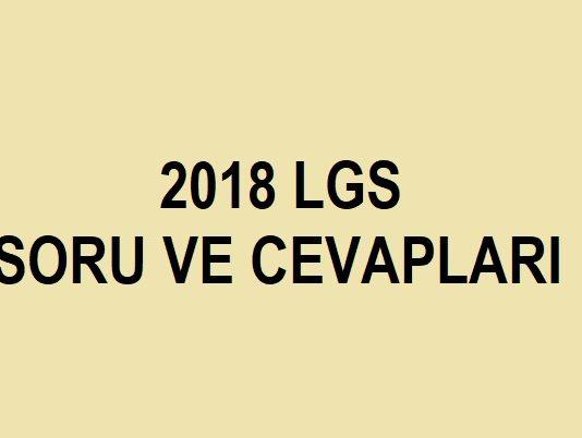 2 haziran 2018 lgs soruları ve cevapları indir