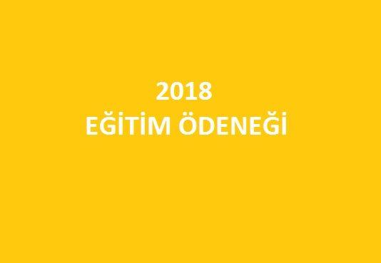 2018 eğitim ödeneği kırtasiye yardımı