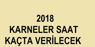 8 haziran 2018 karneler saat kaçta verilecek