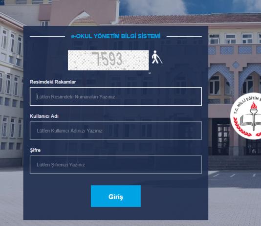 e-okul giriş