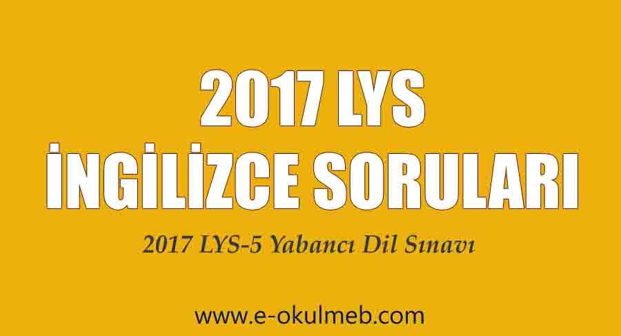 2017 lys-5 ingilizce soruları