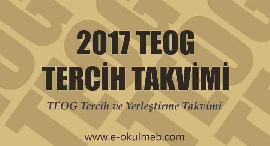 2017 TEOG Tercih ve Yerleştirme Takvimi