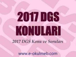 2017 dgs konuları ve soruları
