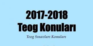 2017-2018 teog konuları