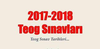 2017-2018 Teog sınav tarihleri