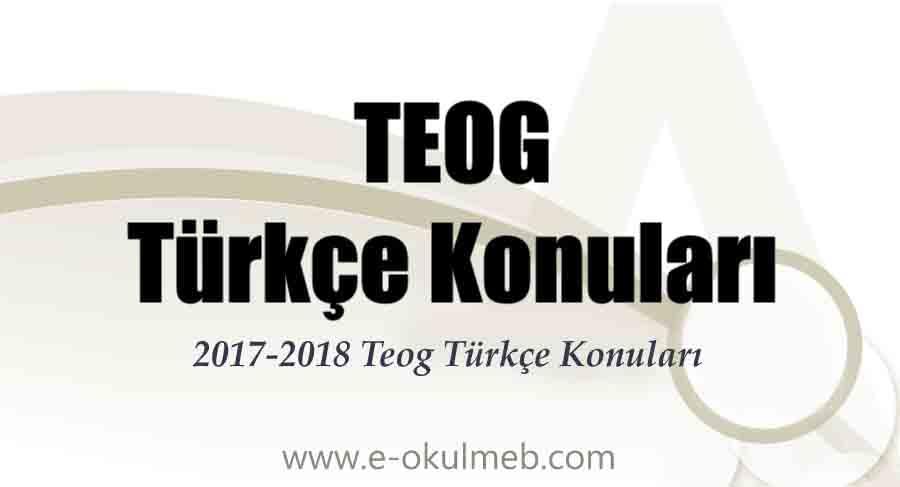 2017-2018 teog türkçe konuları