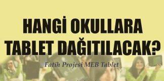 hangi okullara tablet dağıtılacak 2017 2018