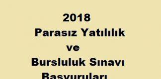 2018 parasız yatılılık ve bursluluk sınavı başvuruları