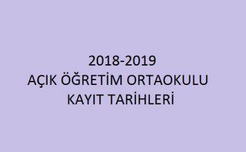 2018-2019 açık öğretim ortaokulu