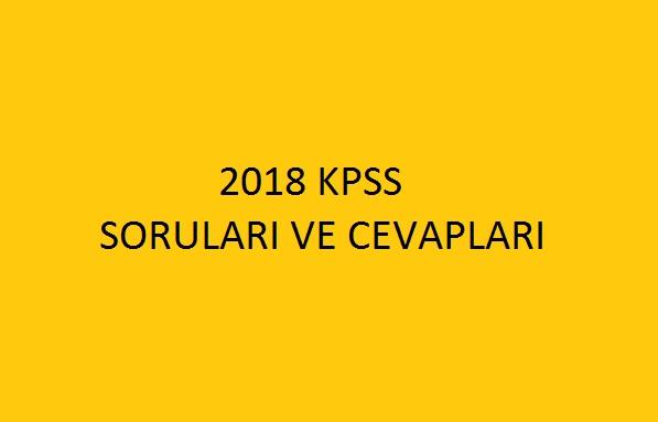 2018 kpss soruları ve cevapları