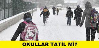 kar tatili okullar tatil mi istanbul