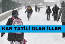 kar tatili olan iller ilçeler hangi iller kar tatili okullar