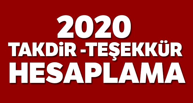 2020 takdir teşekkür hesaplama