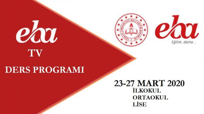 EBA TV Ders Programı 23 Mart 2020 EBA Uzaktan Eğitim Saat Kaçta?
